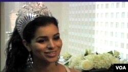 美国小姐法基接受美国之音采访