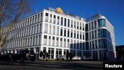 资料照:在德国杜塞尔多夫的华为总部大楼