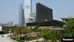 香港西九文化區內的 M+博物館外貌 (路透社照片)