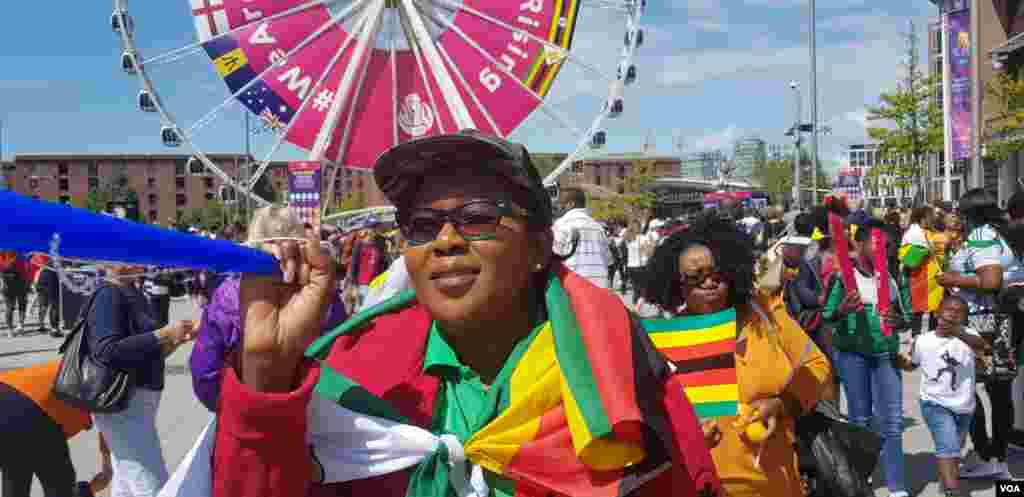 A Zimbabwean fan who watched the Gems in Liverpool