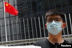 ေဟာင္ေကာင္က ဒီမိုကေရစီအေရး တက္ႂကြလႈပ္ရွားသူ Joshua Wong