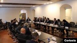 Con la participación de más de 20 diputados del parlamento venezolano, el martes se celebró en Bogotá la 'Reunión de parlamentarios en defensa de la Asamblea Nacional'. Foto: Maria Elisa Ramirez Toro, Asamblea Nacional.