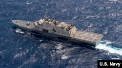 Tàu chiến USS Fort Worth (LCS 3) của Mỹ hiện diện trên biển Đông.