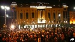 Протест у стен парламента Грузии. 14 ноября 2019 г.