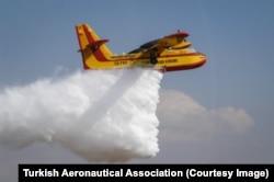 Türk Hava Kurumu yangın söndürme uçağı (Arşiv)