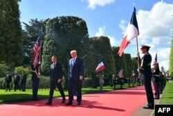 El presidente de Francia, Emmanuel Macron, y el de Estados Unidos, Donald Trump, acudirán a la playa de Omaha el jueves 6 de junio de 2019.