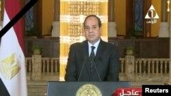 Выступление президента Египта Абдель Фатаха аль-Сиси по национальному телевидению