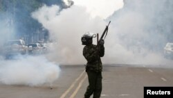Umu Polisi wa Kenya ariko aburizamwo imyiyerekano y'abatavuga rumwe n'ubutegetsi