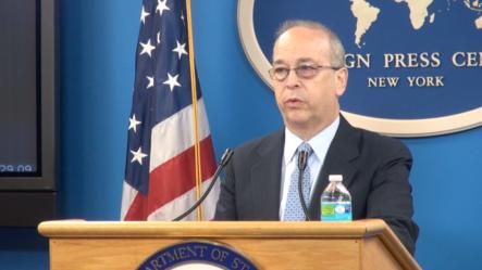 美国负责亚太事务的助理国务卿拉塞尔 ( 美国之音方冰拍摄)