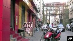 북한인들이 자주 찾는 중국 단둥해관 부근 상가
