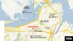 波士顿马拉松赛地图