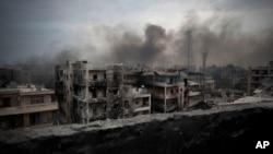 Le quartier Saif Al Dawla, à Alep, pendant la guerre en Syrie, 28 juillet 2016