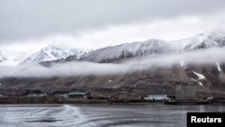 Low clouds are seen in the Kings Bay of Ny-Alesund, Svalbard, Norway, Oct. 12, 2015.