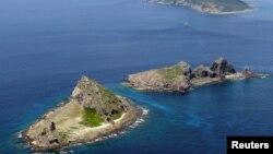 尖閣諸島 (中國稱釣魚島)。