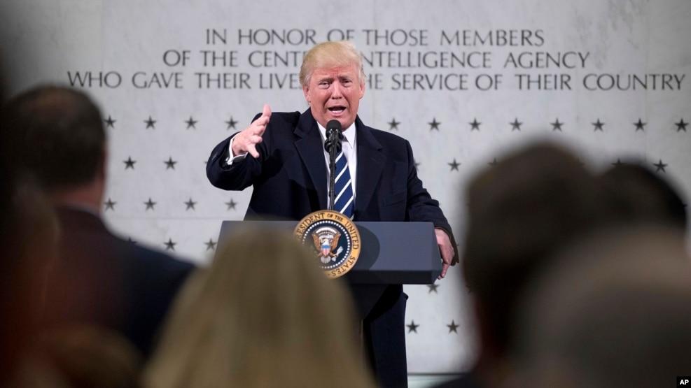 川普在維吉尼亞州蘭利市的中情局總部講話(2017年1月21日)