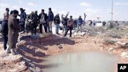 Les insurgés à Ras Lanuf