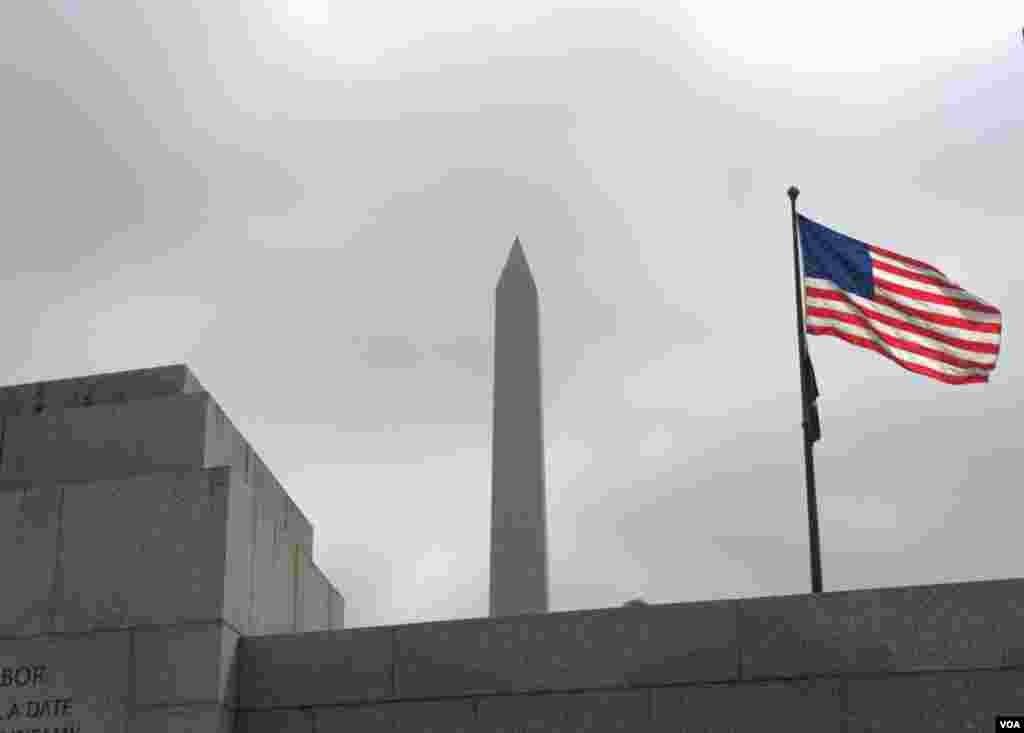 Вид на монумент Джорджа Вашингтона