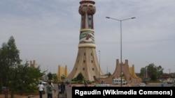 La tour d'afrique à Bamako, le 18 mai 2008.