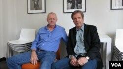 Дэвид Морс и Мартин Донован во время интервью