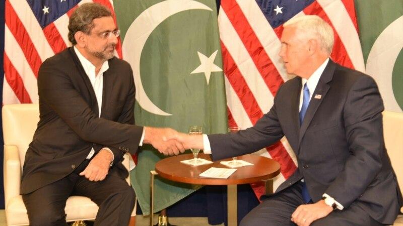 خاقان عباسی اور امریکی نائب صدر پینس کی ملاقات