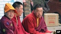 四川的藏人喇嘛(资料照片)