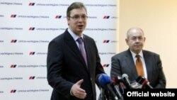 Lider SNS-a Aleksandar Vučić i predsednik Saveza vojvođanskih Mađara Ištvan Pastor (izvor: SNS)