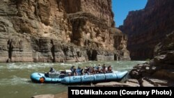 Rafting down the Colorado River is a popular way to see the Grand Canyon up close.