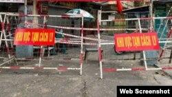 Một điểm cách ly ở Tp. Hồ Chí Minh. Hình minh họa. Photo Báo Dân tộc.