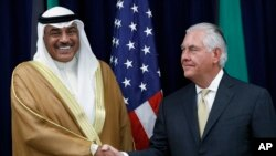 آقای تیلرسون و شیخ صباح خالد احمد آل صباح روز جمعه در واشنگتن دیدار کردند.