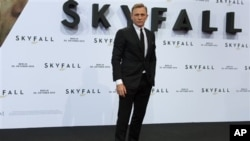 영화 '007 스카이폴'에서 제임스 본드 역할을 맞은 주연 배우 다니엘 크레이그.