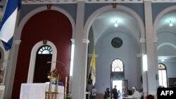 پاپ بنديکت در عبادتگاه فرشته نگهبان کوبا به دعا پرداخت