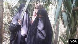 Tiga perempuan, anggota kelompok Santoso yang dimasukkan dalam Daftar Pencarian Orang (DPO) (Foto: Dokumen Satgas Operasi Tinombala)