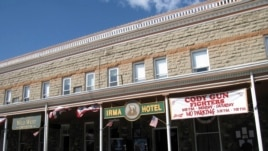 FILE - The Irma Hotel in Cody, Wyoming, Sept. 2009.