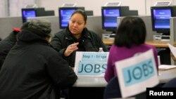 Centro de desempleo en San Francisco, California.