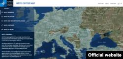 Mapa zemalja članica NATO, pre ulaska Makedonije koja je dobila poziv za priključenje Alijansi (zvančan vebsajt NATO, screenshoot)