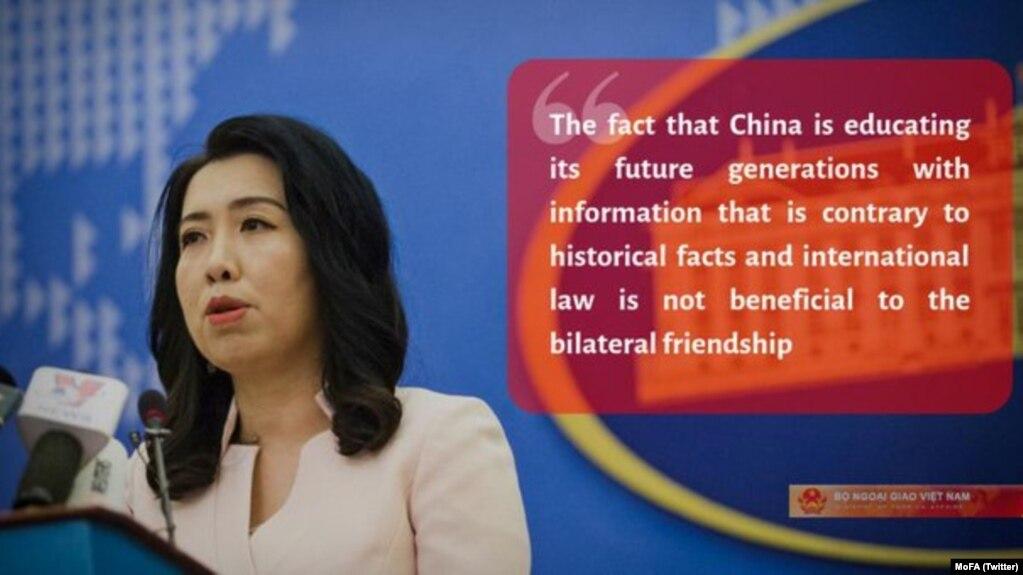 """Người phát ngôn BNG bình luận về thông tin trên Global Times (Hoàn cầu Thời báo) về việc Trung Quốc ra sách giáo khoa lịch sử tuyên bố Biển Đông thuộc Trung Quốc """"từ thời cổ đại."""""""