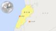黎巴嫩地理位置 (谷歌地图)