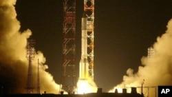 Старт ракеты «Протон-М». Архивное фото.