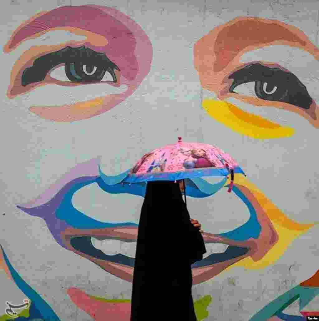 بارش باران در تهران عکس: فؤاد اشتری