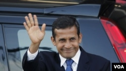 El presidente electo de Perú, Ollanta Humala arribó a La Habana tras visitar México.