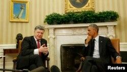 El presidente de EE.UU., Barack Obama, recibió en la Casa Blanca a su par ucraniano Petró Poroshenko, a quien le ofreció una millonaria ayuda.