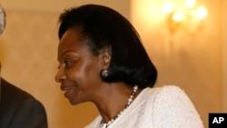 Marie-Madeleine Mborantsuo, présidente de la Cour constitutionnelle gabonaise, le 26 février 2013.