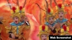 中国猴年央视春晚截图(2016年2月8日)