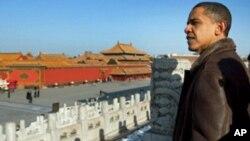 奥巴马总统参观北京紫禁城