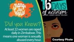 11月25日到12月10日的16天是世界各地提高對婦女暴力行為的關注並動員各地民眾對婦女暴力行為做出改變的活動期