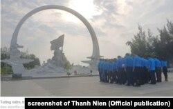Tượng đài tưởng nhớ sự kiện Gạc Ma, đặt tại huyện Cam Lâm, tỉnh Khánh Hòa