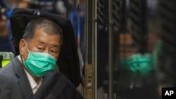 2月1日,壹傳媒創辦人黎智英離開香港法院。