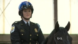 Graduation Ceremony for US Park Police Officers on Horseback