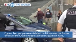VOA60 Addunyaa - Four people were stabbed near the former offices of the Charlie Hebdo satirical magazine in Paris