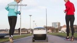 Эстонский робот на доставке товаров в Вашингтоне
